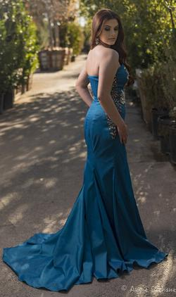 Larissa Couture LV Royal Blue Size 12 Plus Size Side slit Dress on Queenly