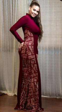 Larissa Couture LV Red Size 12 Plus Size A-line Dress on Queenly