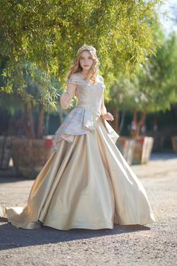 Larissa Couture LV Gold Size 4 Ball gown on Queenly