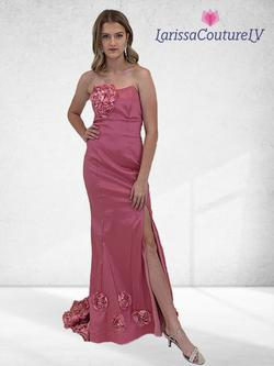 Larissa Couture LV Pink Size 6 Side slit Dress on Queenly