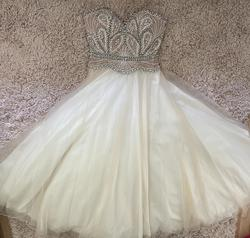Terani Couture Nude Size 10 Pink Sequin Jewelled Ball gown on Queenly