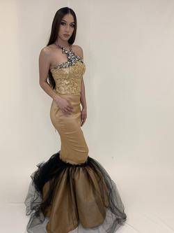 Larissa Couture LV Gold Size 2 Mermaid Dress on Queenly