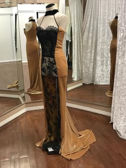 Larissa Couture LV Gold Size 4 Strapless Straight Dress on Queenly