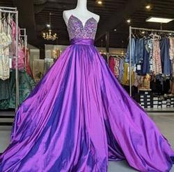 Rachel Allan Purple Size 4 Pageant Tall Height Ball gown on Queenly