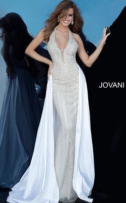 Jovani White Size 6 Ball gown on Queenly