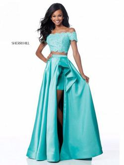Sherri Hill Blue Size 8 Ball gown on Queenly