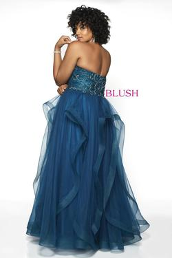 Style 5724W Blush Prom Blue Size 22 Sweetheart Plus Size Tall Height Ball gown on Queenly