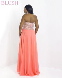 Style 9758W Blush Prom Pink Size 22 Prom Plus Size A-line Dress on Queenly