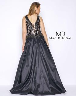 Style 77181F Mac Duggal Black Size 16 Train Pageant Plus Size Shiny A-line Dress on Queenly