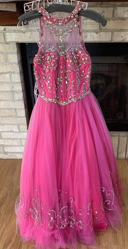 Rachel Allan Pink Size 10 Pageant Ball gown on Queenly