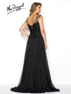Style 65974F Mac Duggal Black Size 26 Prom Plus Size Tulle Straight Dress on Queenly