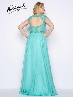 Style 77169F Mac Duggal Green Size 22 Train Sheer Tall Height Straight Dress on Queenly