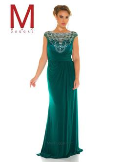 Style 76993F Mac Duggal Green Size 18 Tall Height Straight Dress on Queenly