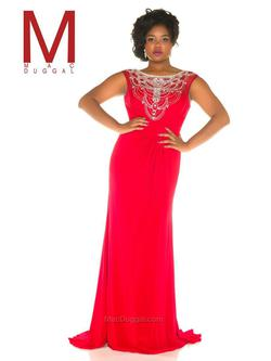 Style 76993F Mac Duggal Red Size 14 Tall Height Straight Dress on Queenly