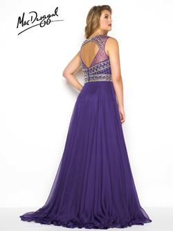 Style 65986F Mac Duggal Purple Size 26 Train Tall Height Side slit Dress on Queenly