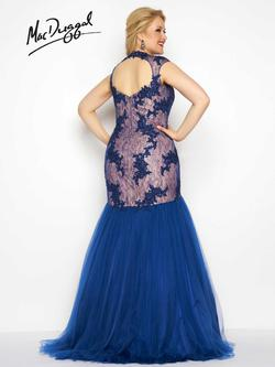 Style 65478F Mac Duggal Blue Size 16 Backless Sweetheart Tall Height Mermaid Dress on Queenly