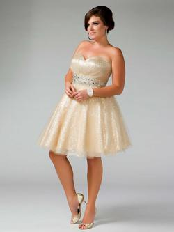 Style 64378F Mac Duggal Nude Size 20 Plus Size Cocktail Dress on Queenly