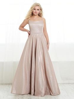 Style 16448 Tiffany Designs Pink Size 22 Spaghetti Strap Tall Height Pockets A-line Dress on Queenly