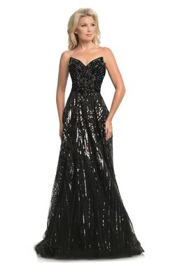 Style 9014 Johnathan Kayne Black Size 0 Sheer Tall Height A-line Dress on Queenly