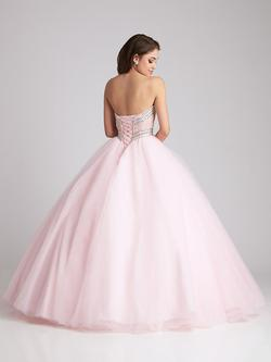 Style Q532 Allure Pink Size 4 Tall Height Ball gown on Queenly