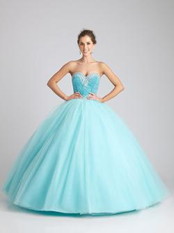 Style Q532 Allure Blue Size 2 Tall Height Ball gown on Queenly