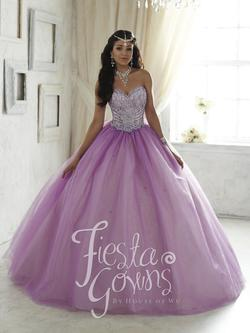 Style 56294 House of Wu Fiesta Purple Size 16 Quinceanera Sweetheart Tall Height Ball gown on Queenly