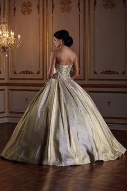 Style 56378 House of Wu Fiesta Gold Size 0 Quinceanera Corset Tall Height Ball gown on Queenly