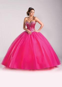 Style Q15250 Karishma Creations Pink Size 10 Tulle Corset Tall Height Ball gown on Queenly