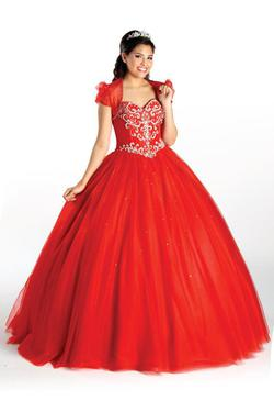 Style 2191 Karishma Creations Red Size 2 Tulle Corset Tall Height Ball gown on Queenly
