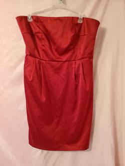 Apt. 9  Red Size 14 Side Slit Silk Cocktail Dress on Queenly