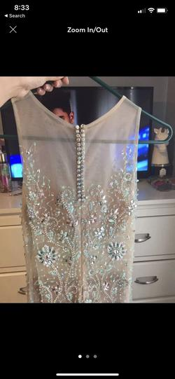 David's Bridal Gold Size 4 Blue Mermaid Dress on Queenly