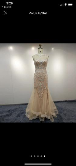 Custom Pink Size 4 Mermaid Dress on Queenly