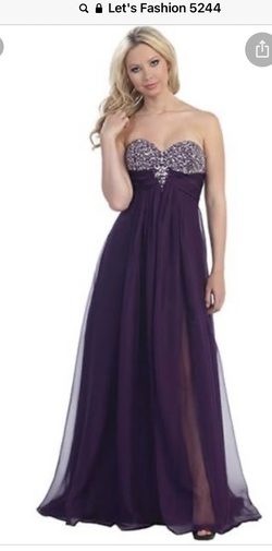 Purple Size 16 A-line Dress on Queenly