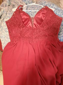 Nox Red Size 14 Plus Size Side slit Dress on Queenly