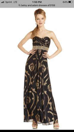 Betsy & Adam Blue Size 12 Sweetheart Strapless Straight Dress on Queenly