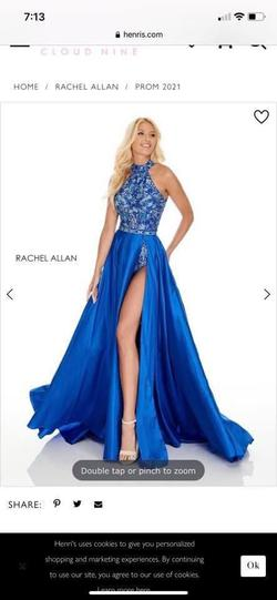 Rachel Allan Blue Size 12 Plus Size Side slit Dress on Queenly