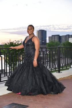 Tiffany Designs Black Size 16 Plus Size Mermaid Dress on Queenly