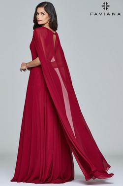 Style S8087 Faviana Red Size 4 A-line Dress on Queenly