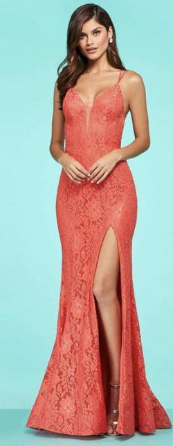 Orange Size 00 Straight Dress on Queenly