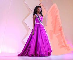 Larissa Couture LV Purple Size 2 Pageant Ball gown on Queenly