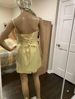 Alna Couturier Yellow Size 10 Alna Couture Sequin Cocktail Dress on Queenly