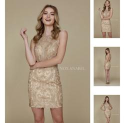Gold Size 14 Cocktail Dress on Queenly