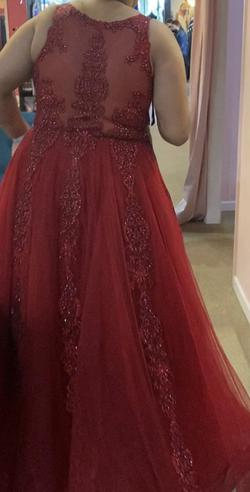 Red Size 24 Ball gown on Queenly