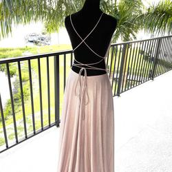 Betsy & Adam Pink Size 2 Tall Height Ball gown on Queenly