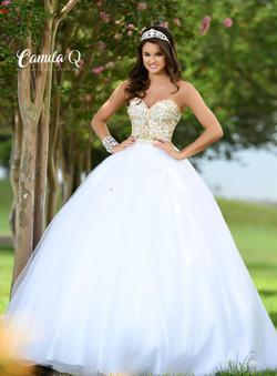 Style Q17003 Karishma Creations White Size 6 Quinceanera Tulle Corset Tall Height Ball gown on Queenly
