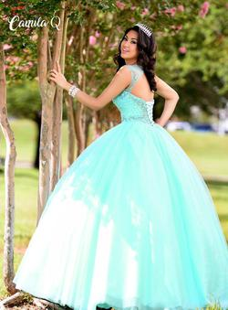 Style Q17011 Karishma Creations Green Size 20 Corset Tall Height Ball gown on Queenly
