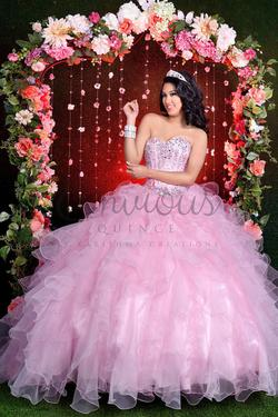 Style Q17016 Karishma Creations Pink Size 4 Corset Tall Height Ball gown on Queenly