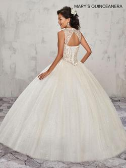 Style MQ1004 Mary's Gold Size 6 Lace Tulle Ball gown on Queenly