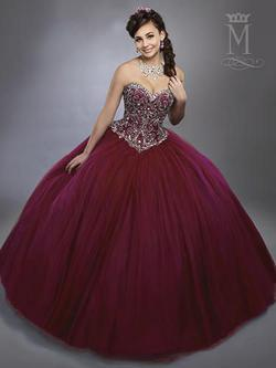 Style 4781 Mary's Red Size 4 Sweetheart Tall Height Lace Ball gown on Queenly