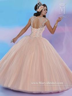 Style 4655 Mary's Pink Size 2 Lace Ball gown on Queenly